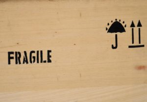 Blog Image - Furniture Removal - Protecting the Tricky Items Fragile sign
